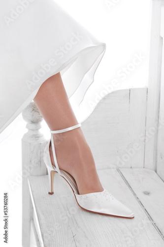 Hochzeit Brautschuhe Schuhe In Weiss Braut Buy This Stock