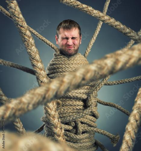 Fotografie, Obraz  Trapped man