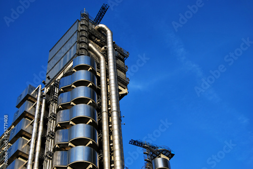 Lloyds Building in London, The Inside Out Building Wallpaper Mural