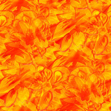 Sunlight Seamless Texture Color Watercolour Orange Flower Abstra