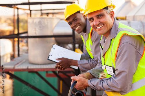 Fototapeta oil and chemical industry technicians obraz