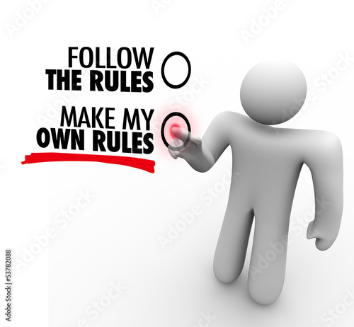 Tablou Canvas Follow or Make My Own Rules Vote Choose Freedom