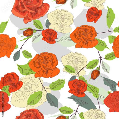 wektorowa-kwiatowa-tekstura-z-czerwonymi-i-bialymi-rozami