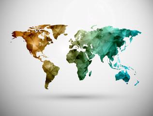 fototapeta mapa świata obraz