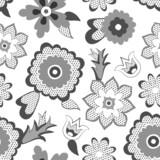 Flower pattern background. Vector illustration