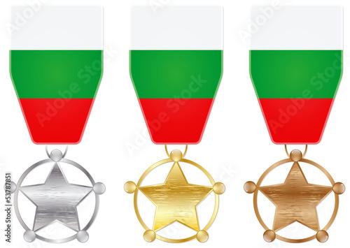 Obraz na plátně  bulgaria medals