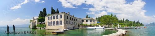 Punta san Vigilio, Villa, Gardasee, Italien, Garda Canvas Print