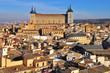 Toledo city center and Alcazar