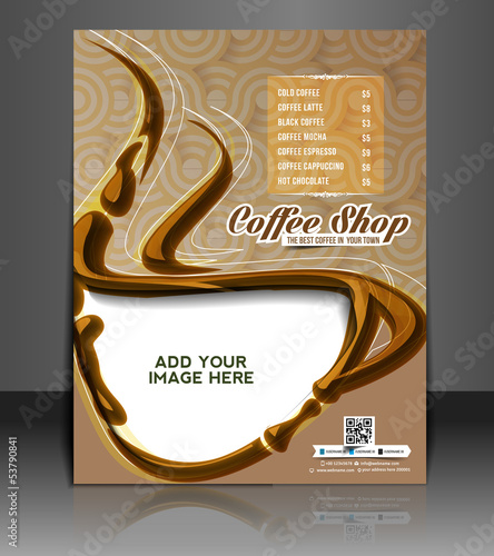 vector coffee house menu card flyer magazine poster template buy