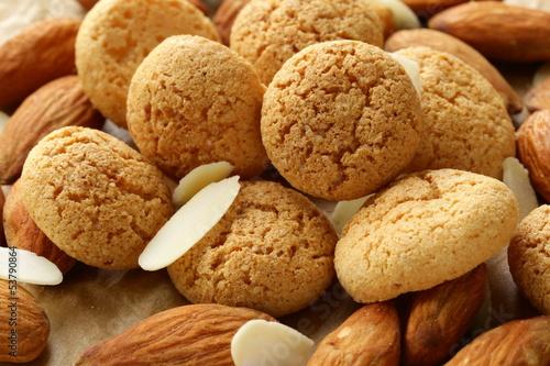 sweet almond cookies biscuits (amaretti) Wallpaper Mural