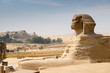 Famous ancient statue of Sphinx in Giza, Egypt