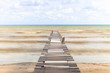 Wooden Bridge In The Sea