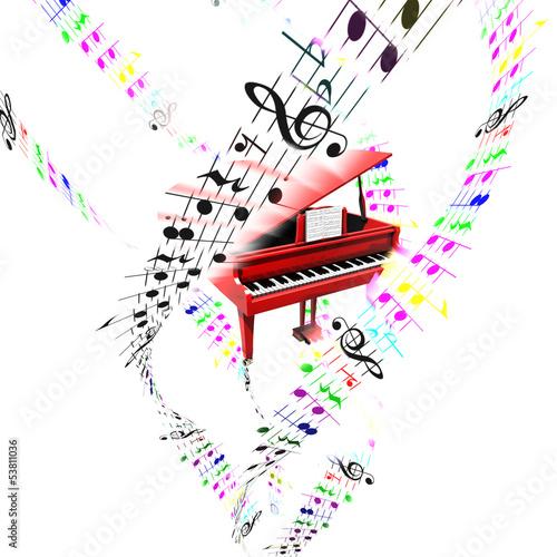 fortepian-z-kolorowa-partia-latania-antenowe-pojecie