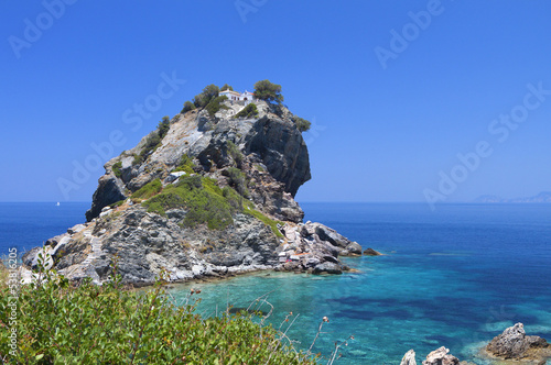Photo  Agios Ioannis chapel at Skopelos island in Greece