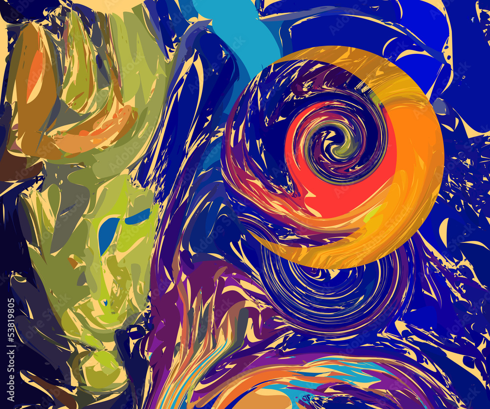 abstract nocturnal sky full moon