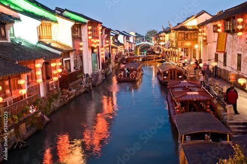 Nightscene of Suzhou street