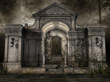 Kaplica Na Cmentarzu W Lesie