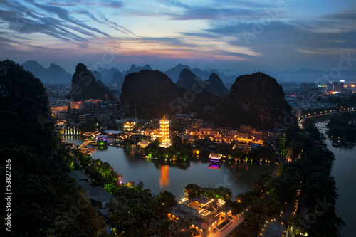 Staande foto Guilin Guilin China