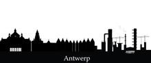 Antwerp Skyline With Text