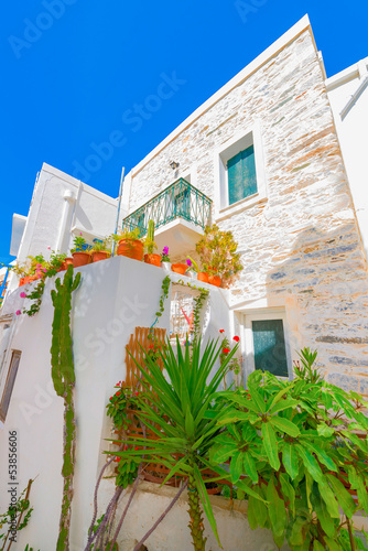 Fototapety, obrazy: Greece Syros island architecture inside main capitol with view o
