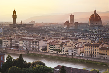 FototapetaFlorence skyline at sunrise, Italy