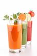assortment of vegetarian juice