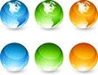 Set of color globe