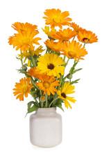 Orange Color Floral Composition