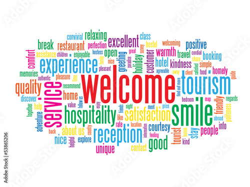 Welcome tag cloud customer service greetings smile card sign welcome tag cloud customer service greetings smile card sign m4hsunfo