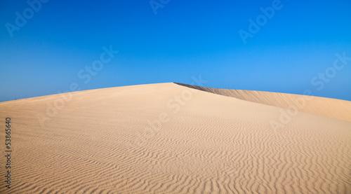 barkhan dune, evening light Canvas Print