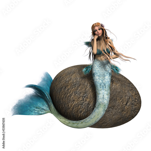 Wall Murals Mermaid Sad Mermaid