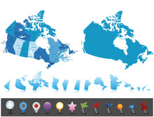 Canada - Highly Detailed Polit...