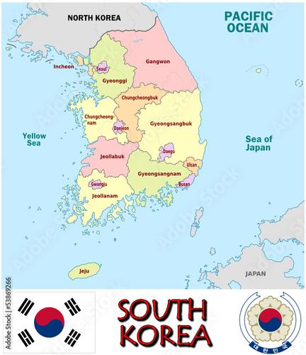 Korea Asia Map.South Korea Asia National Emblem Map Symbol Motto Buy This Stock