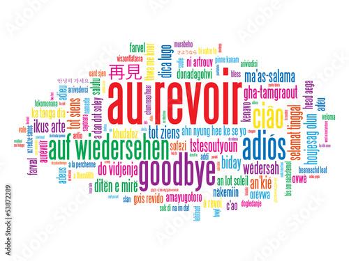 Photo  Carte AU REVOIR (adieux salut bon voyage bonne chance)