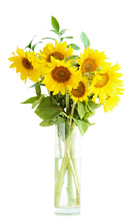 Sunflowers Bouquet In A Vase
