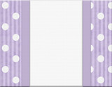 Purple Polka Dot and Striped Frame for your message or invitatio
