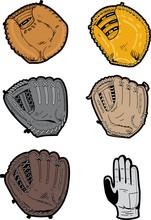 Assorted Baseball Gloves