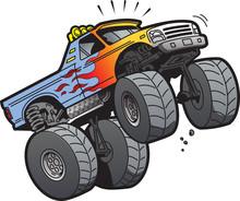 Monster Truck Jumping