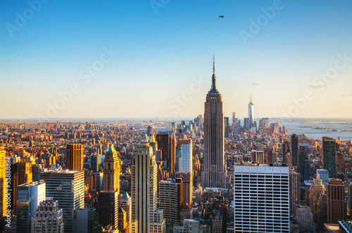 Deurstickers New York New York City cityscape