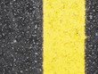 canvas print picture - yellow road sign