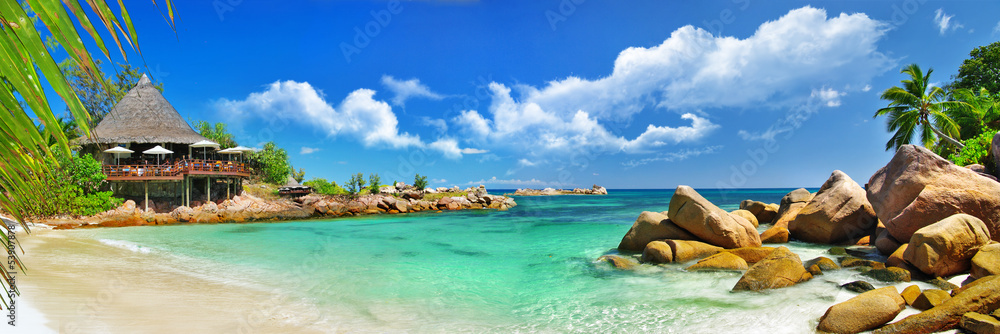 Fototapety, obrazy: holidays in tropical paradise. Seychelles islands