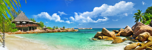 Fotomural  holidays in tropical paradise. Seychelles islands