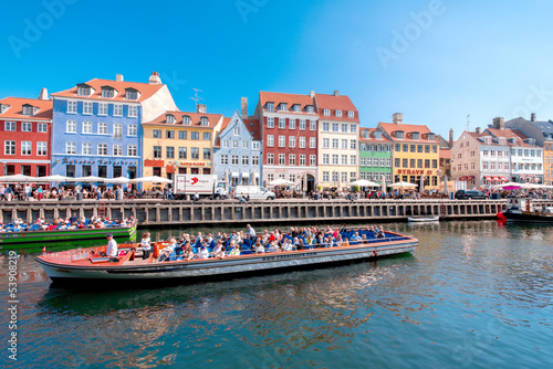 Photo  Nyhavn in Copenhagen Denmark