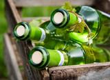 Weißweinflaschen