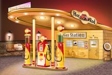 Alte Amerikanische Tankstelle
