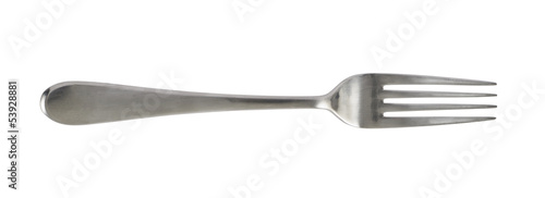 Cuadros en Lienzo Steel metal table fork isolated