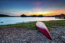 A Kayak Isolated By The Lakesi...