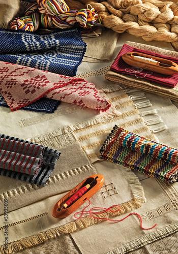 Fotografie, Obraz  handmade textiles