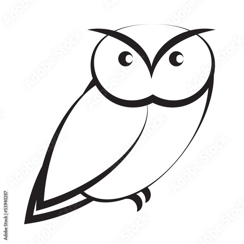 Poster Uilen cartoon Owl isolated on white background