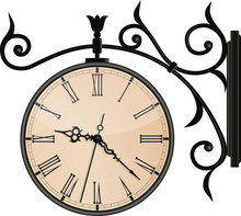 Vintage Street Clock. EPS10